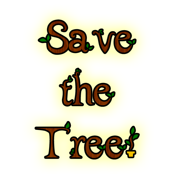 Save the tree logo